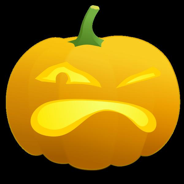 Winking pumpkin vector image