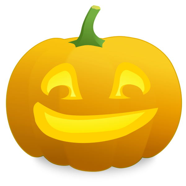 Satisfied pumpkin vector graphics