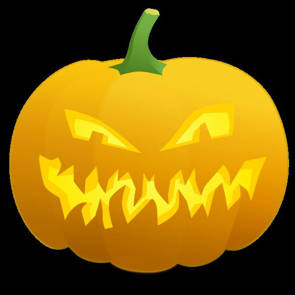 Mad pumpkin vector graphics