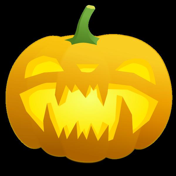 Spiky teeth pumpkin vector graphics