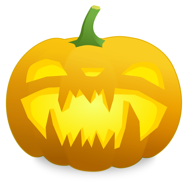Spiky teeth pumpkin vector graphics