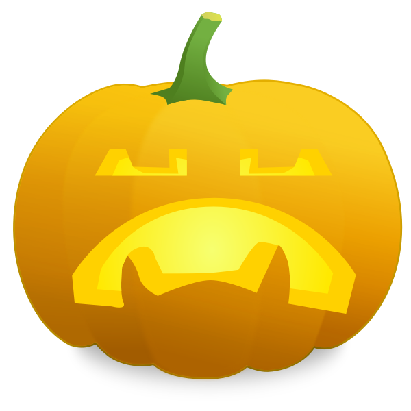 Pessimistic pumpkin vector drawing