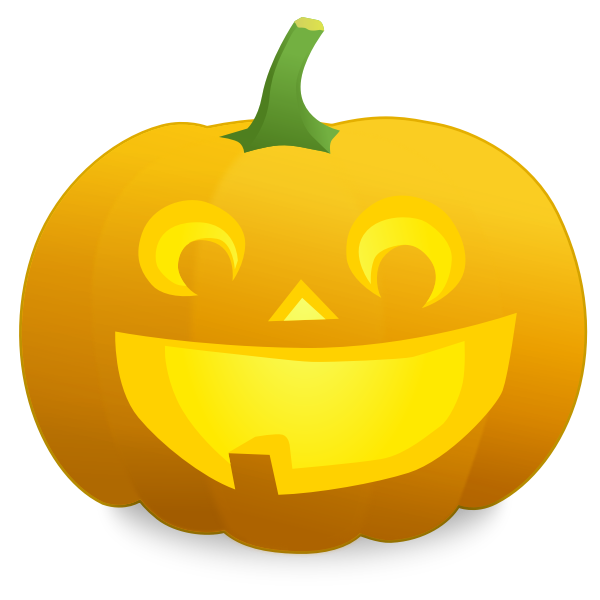 Toothless pumpkin vector image