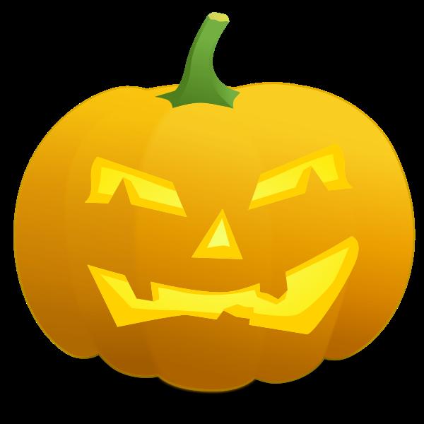 Grumpy pumpkin vector image