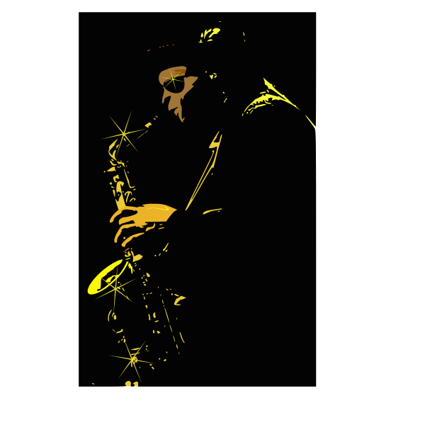 Vector drawing of jazz musician