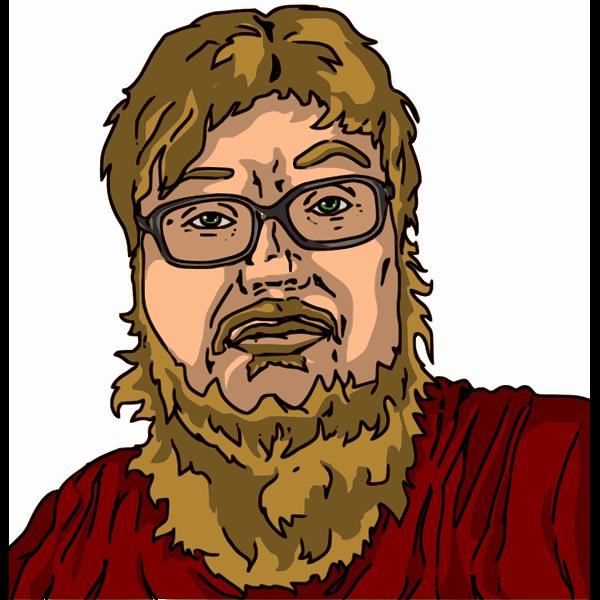 vector of guy with yellow beard