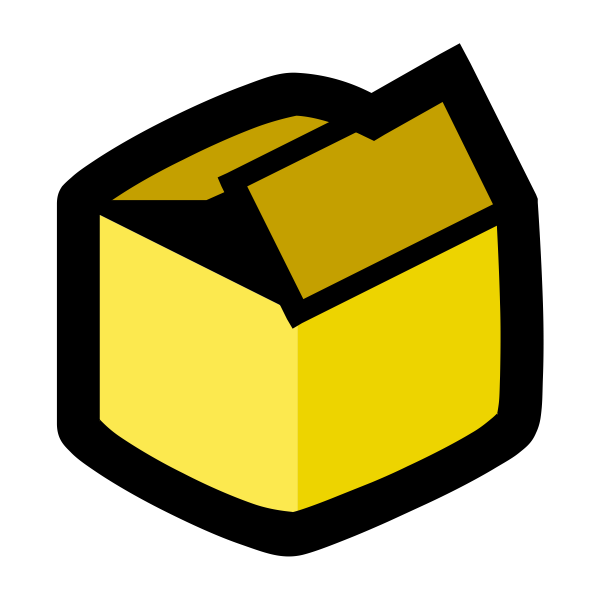 vector graphics of packaging box icon | free svg  free svg