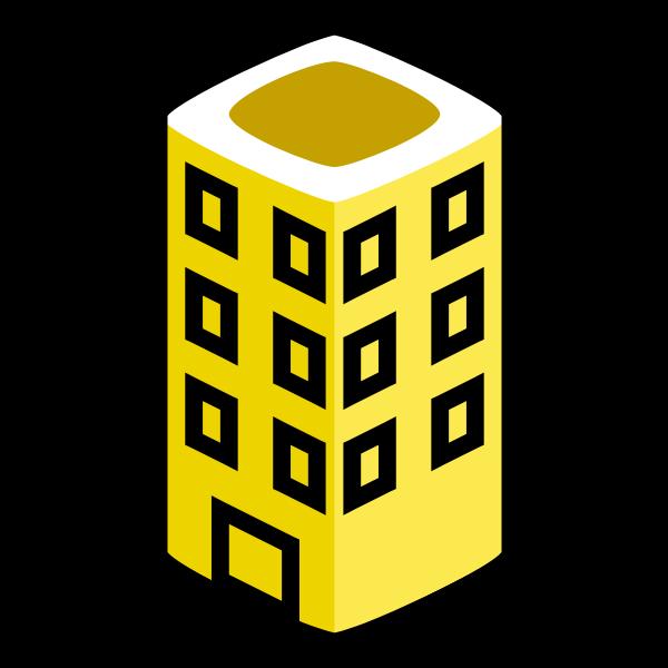 Yellow building vector image