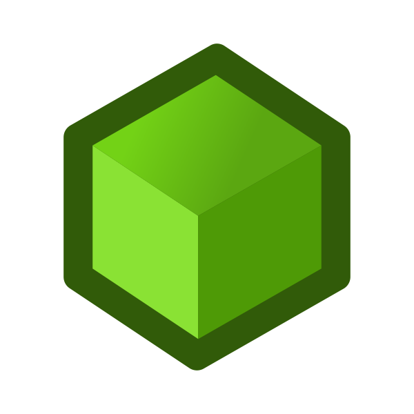 Green cube symbol