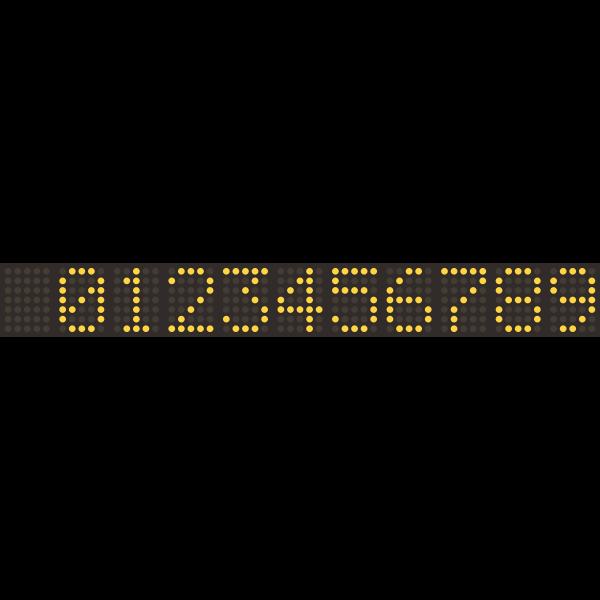 Digital numeric display
