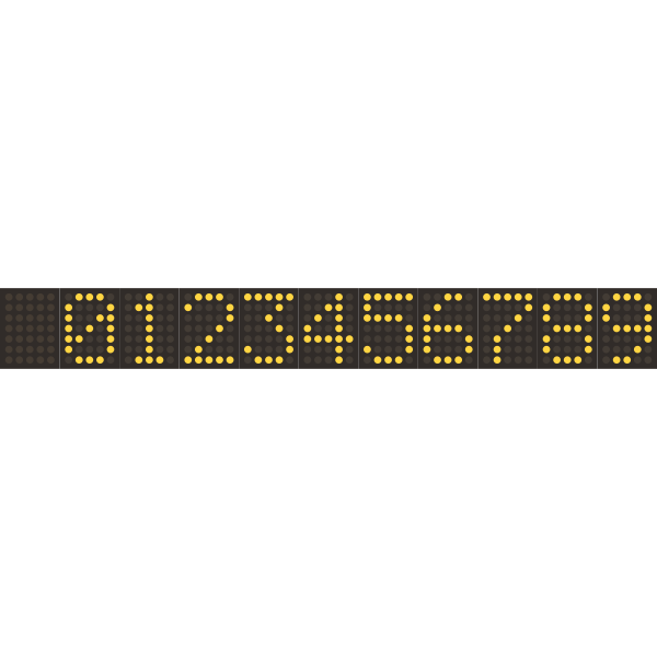 Digital numeric display