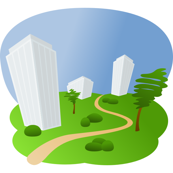 Housing estate vector clip art