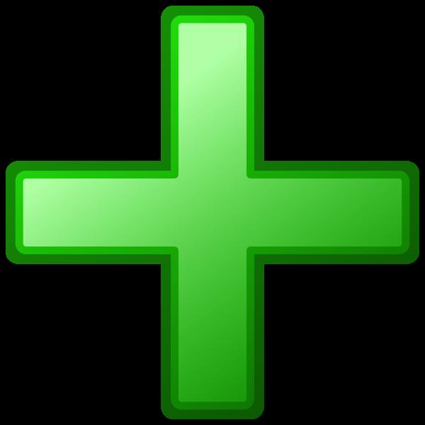 Green cross vector image