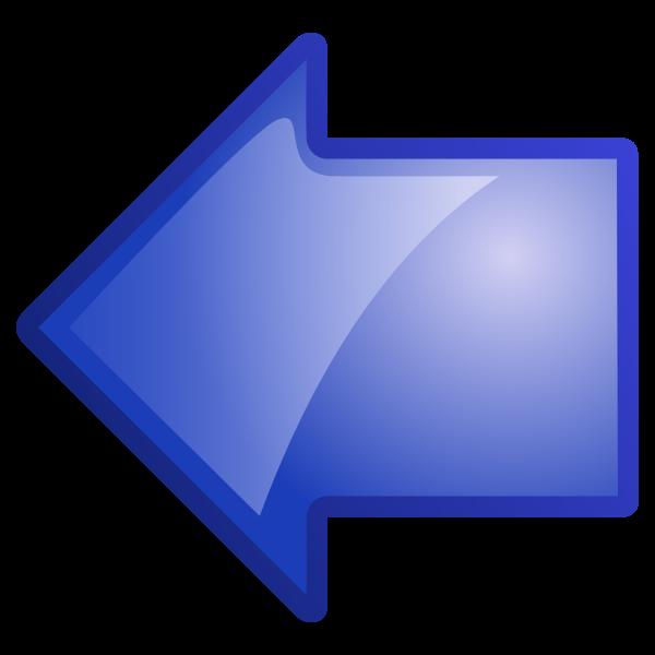 Arrow pointing left vector illustration