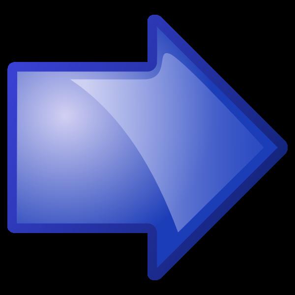 Arrow pointing right vector clip art