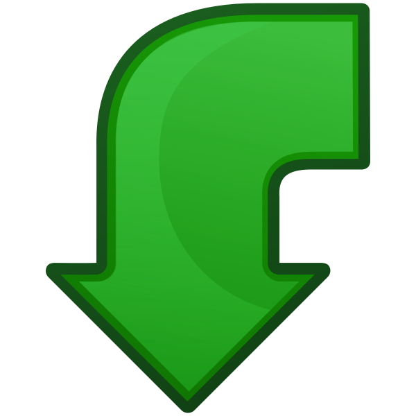 Go back icon vector clip art