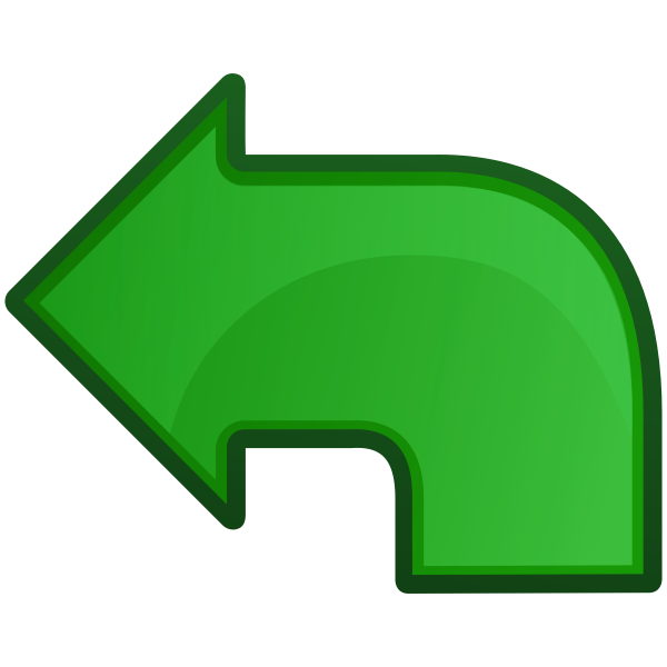 Go left icon vector image