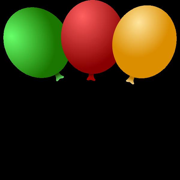 Balloons vector illustration