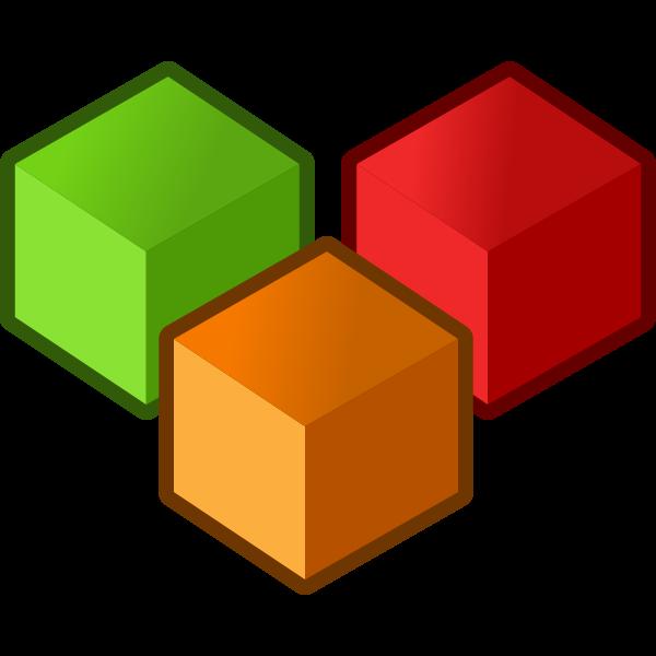 Cubes vector clip art