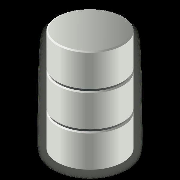 Disk drive capacity vector icon