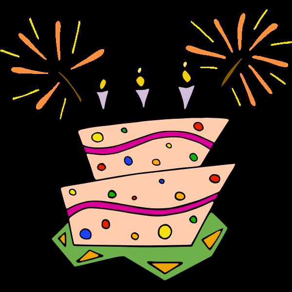 Vector image of birthday cake