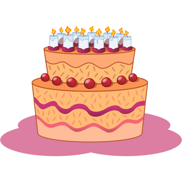 Birthday cake clip art image vector