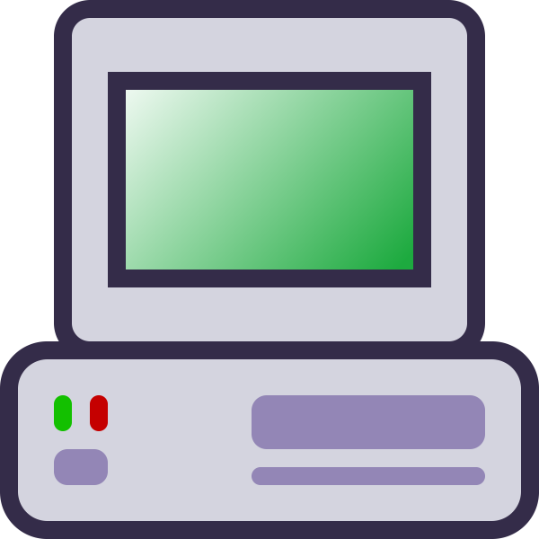 Computer host icon vector image