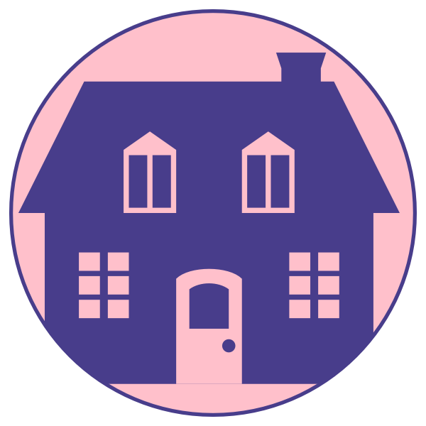 Blue house vector graphics