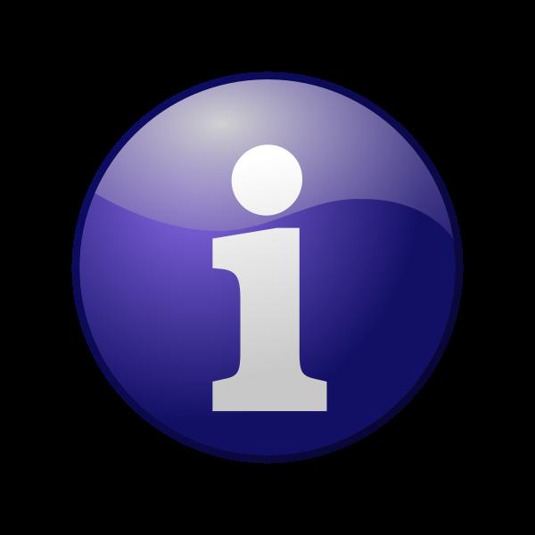 Blue information vector icon