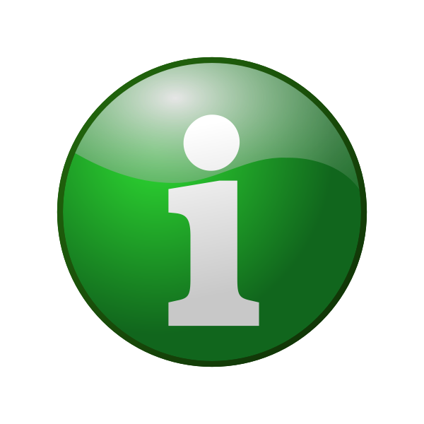 Green information vector icon