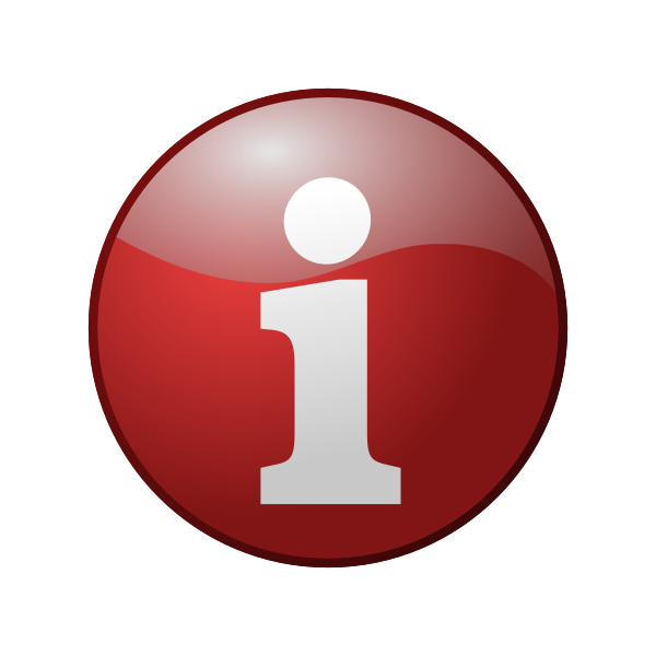 Red inforrmation vector icon