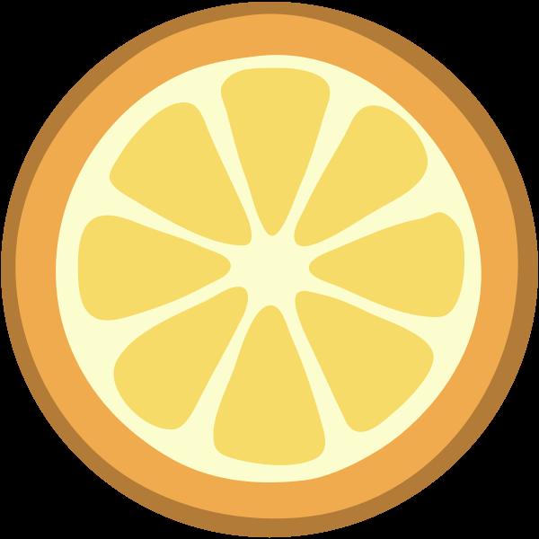 Vector image of slice of orange