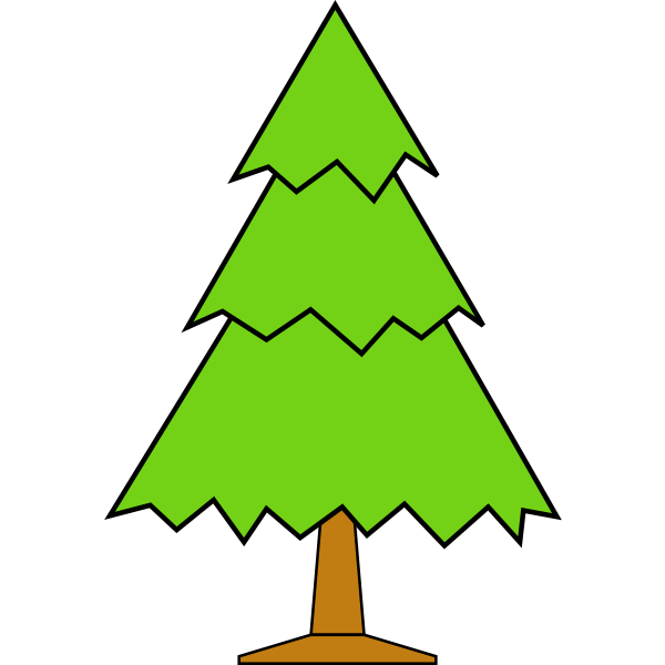 Simple vector Christmas tree