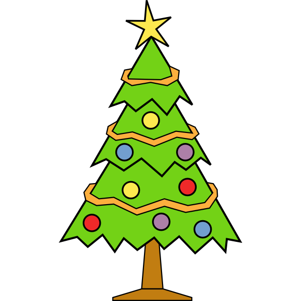Christmas tree art graphics
