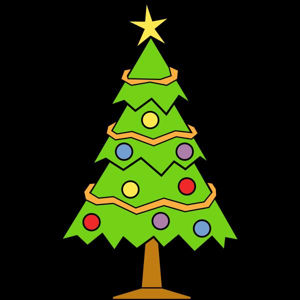 Christmas tree art graphics