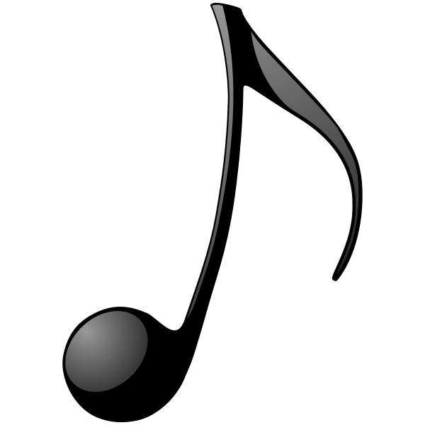 Eighth note vector clip art