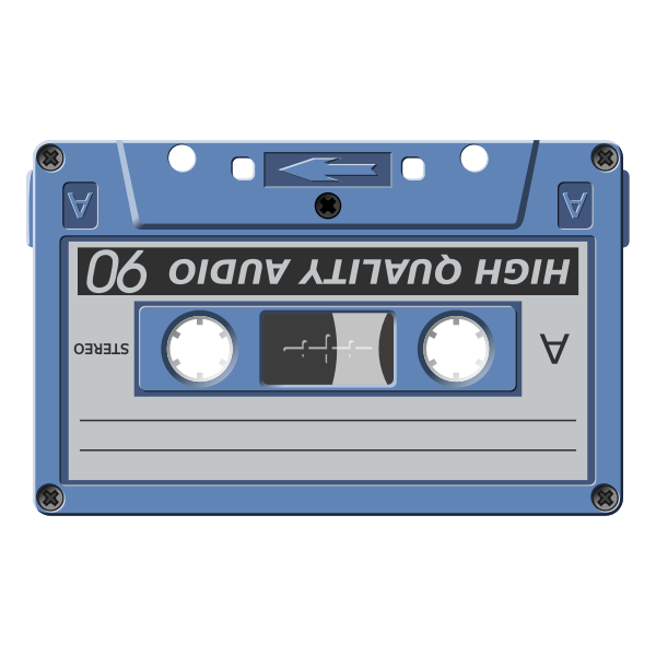 Audio cassette vector illustration