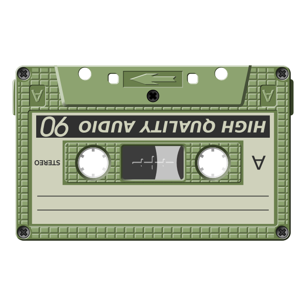 Audio cassette vector graphics