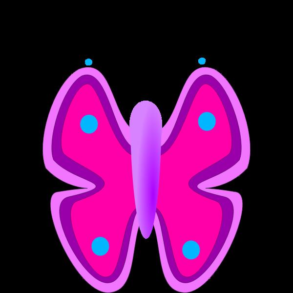 Cartoon pink vector image