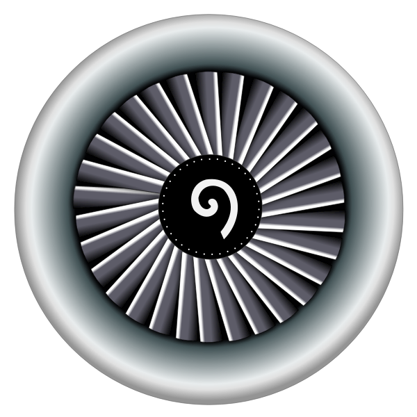 An airplane engine vector