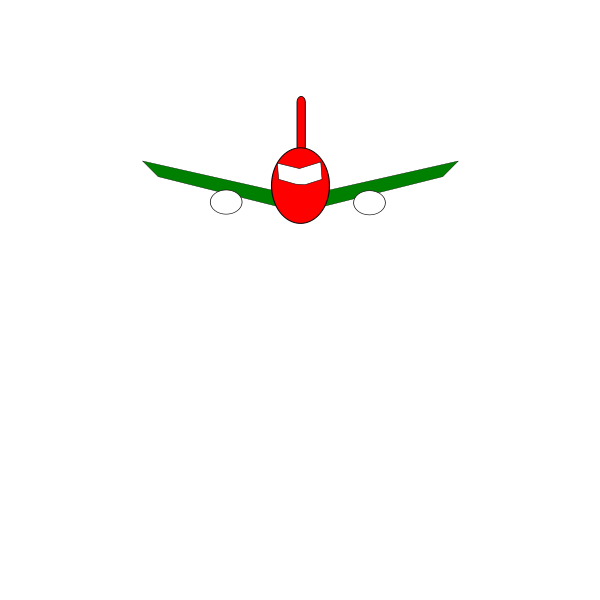 Jet front view
