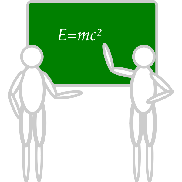 Learning from a whiteboard vector image