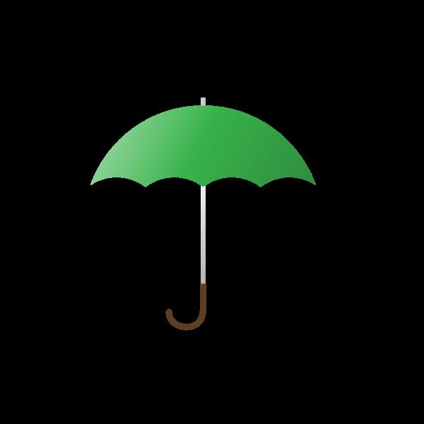 Vector illustration of green umbrella