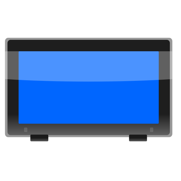 LCD widescreen monitor vector image