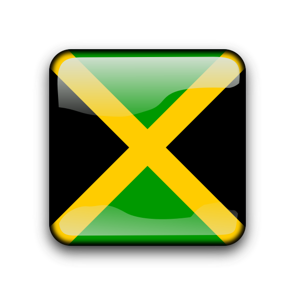 Jamaican flag button