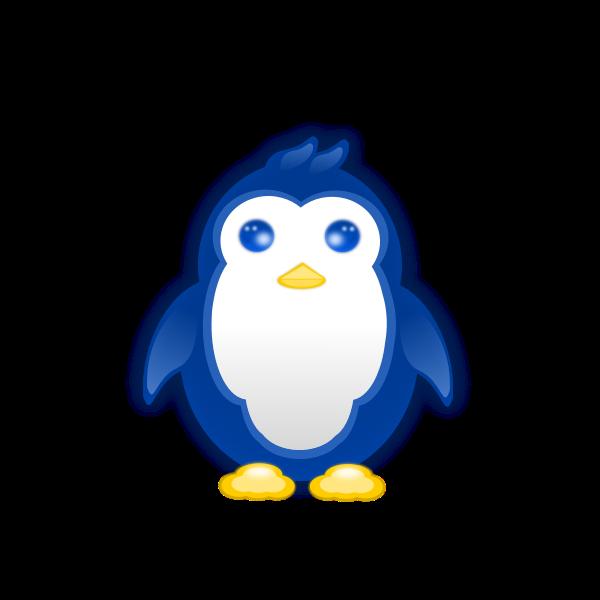 Vector graphics of baby penguin