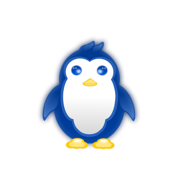 Vector graphics of baby penguin