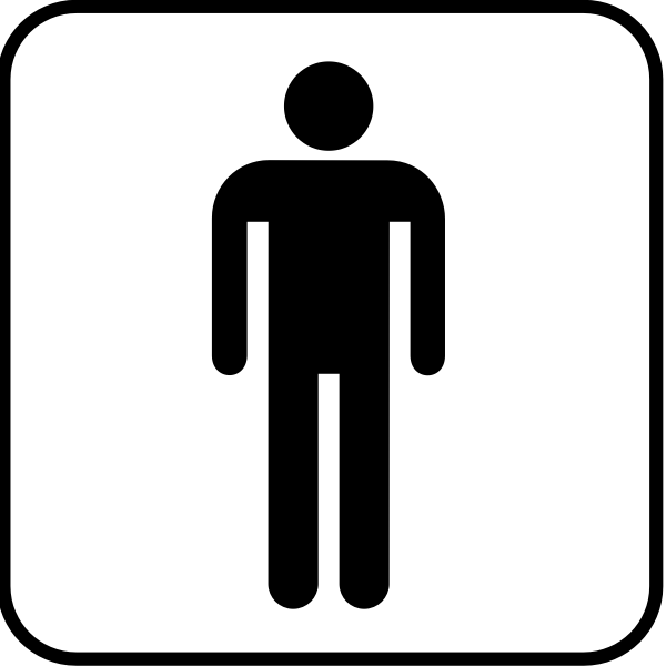 Pictogram for a men's room vector image
