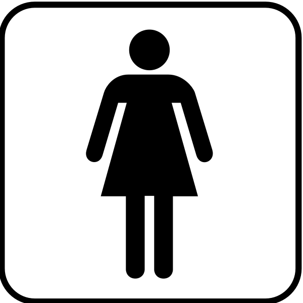 NPS pictogram for a ladies room vector image