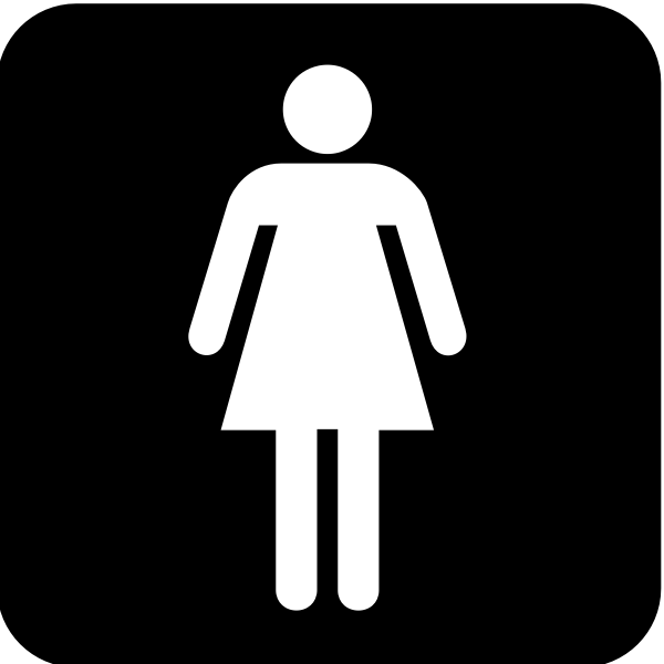 US National Park Maps pictogram for a ladies resroom vector image